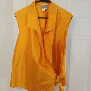 Coldwater Creek silk wrapped blouse